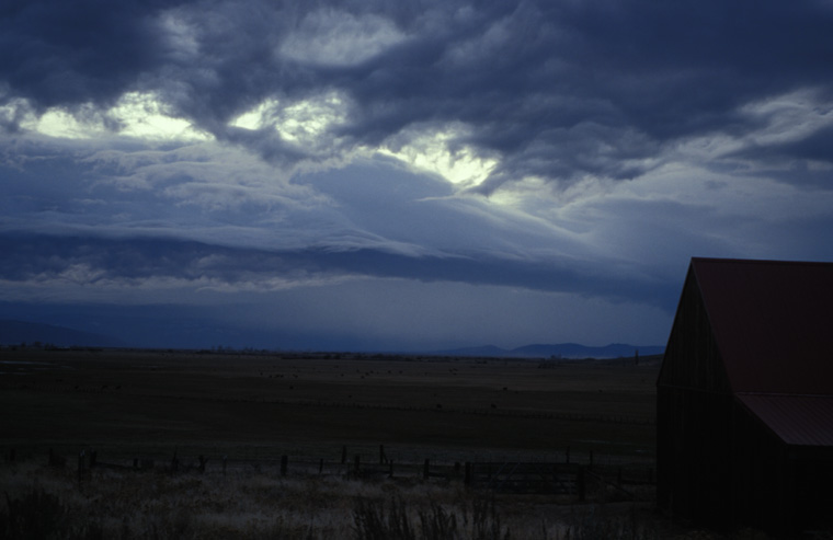 Fall Storm over a Plumas County Ranch