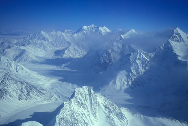 Mount McKinley Peak in Denali National Park